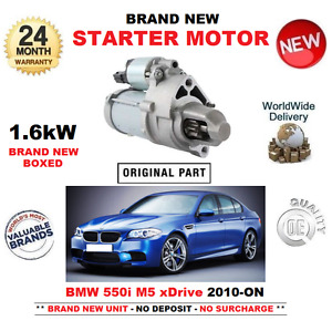 FOR BMW 550 M5 xDrive STARTER MOTOR 2010-ON BRAND NEW UNIT EO QULAITY