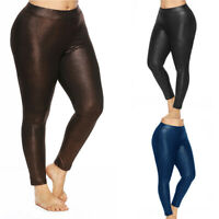 NEW American Style Apparel Shiny High Waisted Stretchy Plus Size Pants Leggings