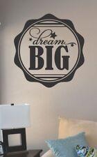 dream big circle vinyl wall art decal sticker home house decor sleep bed art