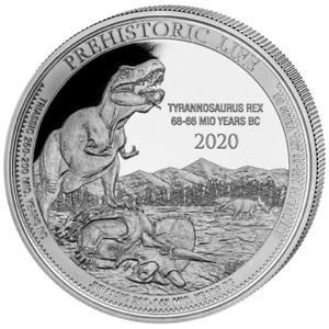 2020 Democratic Republic of Congo 1 oz Silver Tyrannosaurus T-Rex Coin