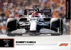 2021 TOPPS NOW FORMULA ONE F1 CARD ROBERT KUBICA #50 RETURNS TO FORMULA ONE