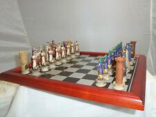 ITALFAMA AB004 BRITISH KNIGHTS CRUSADES CHESS SET GAME WITH WOOD BOARD