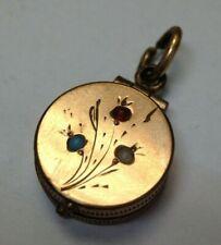 Cute Gold Filled Mini Locket Charm Pendant Open Back As is