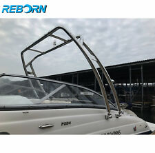 Reborn Launch Forward-facing Boat Wakeboard Tower polished | Fast Install & Fold