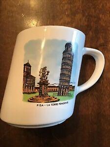VINTAGE LEANING TOWER OF PISA CUP MUG TOURIST SOUVENIR