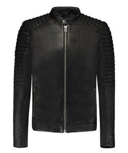 Goosecraft Turine Biker Leather Jacket Black size M RRP£599