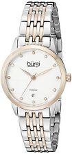 Women's BUR146TTR Round Silver Dial Three Hand Quartz Two Tone Bracelet Watch