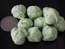 DOLLHOUSE MINIATURES 10 LOOSE HANDCRAFTED CLAY CABBAGE VEGETABLE FOOD DECO