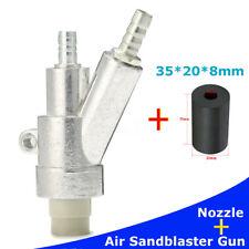 Stainless Steel Air Sandblaster Gun Kits Spray Gun + 35mm Boron Carbide Nozzle