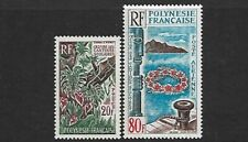 FRENCH POLYNESIA - 1965 - SCHOOLS CANTEEN ART SET OF 2 - MM - SG49/50 - CAT £40