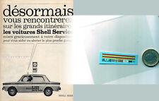 decals decalcomanie decalque shell  berre service sur simca 1000 1/87