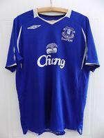2008 2009 Home Original Umbro Everton FC Mens Football Soccer Jersey Shirt Large
