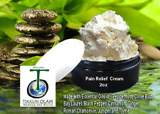 All Natural Pain Relief Cream - 2oz Essential Oils Synergy Blend