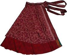 5 Pcs Printed Indian Long Beach Wrap Around Skirts - Art Silk
