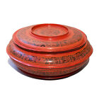 Exceptional Large Incised Lacquer Hsun-ok Offering Box