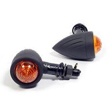 Bullet mini intermitentes negro Grooved Chopper Bobber Harley custombike moto