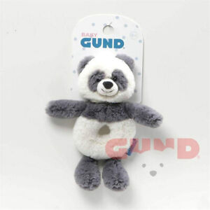 "Baby GUND Toothpick Panda Rattle Plush Stuffed Animal 7.5"""