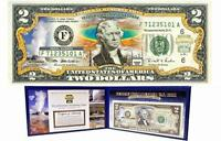YELLOWSTONE COLORIZED United States $2 Bill Honoring America's National Parks