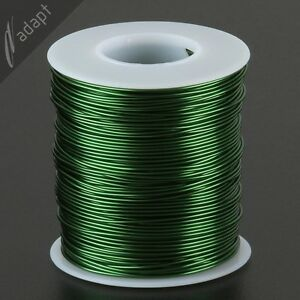 Magnet Wire, Enameled Copper, Green, 19 AWG (gauge), 155C, 1 lb, 250ft