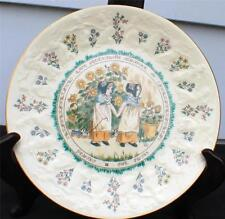 Vintage 1977 Royal Doulton Based Kate Greenaway Almanack 1884 Gemini Décor Plate