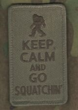 AFSOC SEAL SPECIAL WARFARE ODA JUMPSUIT vel©®😎 PATCH: Keep Calm and GO BIGFOOT