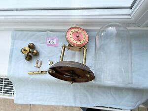 Kein 400 Day clock Anniversary Torsion Mantle Clock With pink enamel dial pretty