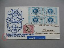 SOUTH AFRICA, cover FDC 1959, block of 4 South African  art en science academy
