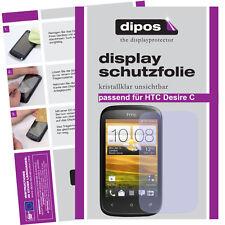 1x HTC Desire C Pellicola Protettiva Proteggi Schermo Chiaro Pellicola INVISIBILE compatibile