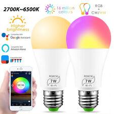 LED Smart Ampoule Connectée WiFi Lampe Ampoule Intelligente 16 Million Couleurs