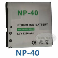 3.7V LI-ION 1230mAh Battery for Casio NP-40 NP40 Exilim PRO EX-P505 P600 P700