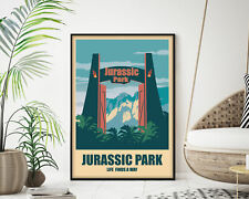Jurassic Park Movie Poster, Modern Wall Art Print