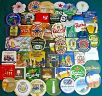 50 New Imported Beer Coasters! No Dupes! Save on Lots!