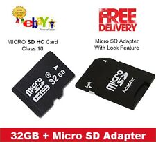 32GB Micro SD Card Class 10 Smart Phones, Tablets + FREE ADAPTER