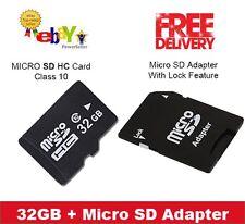 CARTE MICRO SD 32 Go Classe 10 Téléphones Intelligents, comprimés + Gratuit Adaptateur