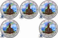 Deutschland 5 x 2 Euro 2015 Paulskirche Hessen Frankfurt Komplett-Satz in Farbe