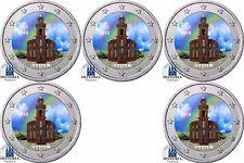 Deutschland 5 x 2 Euro 2015 Bundesland Hessen Paulskirche Mzz A - J Set in Farbe