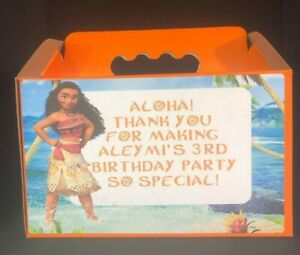 MOANA Candy Boxes , Treat Boxes with labels