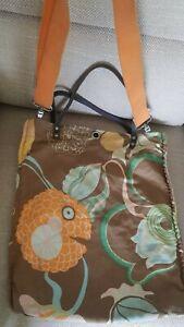 Miss Sixty Vintage cloth Bag orange brown, handbag / crossbody messenger tote