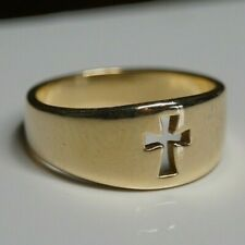 James Avery 14k Yellow Gold Narrow Crosslet Ring Size 6