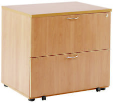TC TKDH800SF. Beech 2-Drawer Wooden Side-Filing Cabinet, Lateral Filing Cabinet
