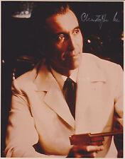 Christopher Lee HAND Signed 8x10 Photo, Autograph, James Bond The Man Golden Gun