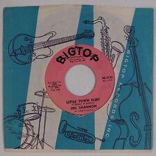 DEL SHANNON: Little Town Flirt '63 Rocker BIG TOP 45 Rare HEAR Company Sleeve