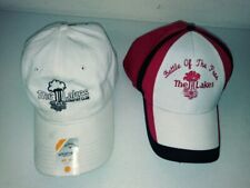 Callaway The Lakes Cc Weather Series White Golf Cap New & Battle Of The Pros Cap