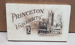 Princeton University Postcard Booklet early 1900's Palmer Memorial Stadium Store