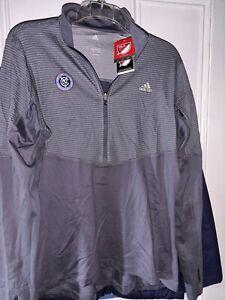 New York City Football Club NYCFC soccer Pullover Jacket shirt NY MLS Ladies XL