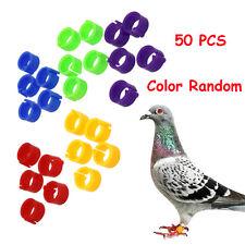 50 PCS Random Pet Tool Bird Hen Chicken Animal Foot Rings Poultry Clip Leg Band