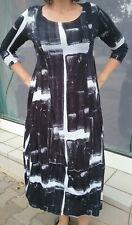 Langes Kleid Studio Rundholz Gr.M schwarzweiss gemustert ganz leicht 3/4 Arm neu