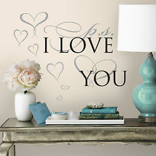 PS I Love You Wall Decals NEW Quote Stickers Inspirational Quotes Decorations