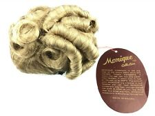 """Vintage Monique Doll Wig LUCIE Fits 6-7"""" Dolls Blonde Curly Hair New in Package"""