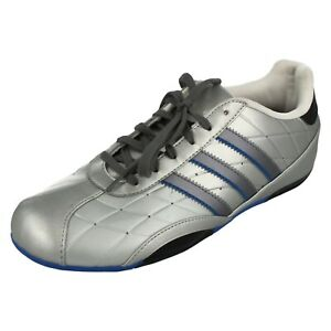 Boys Adidas Silver Lace Up Trainers : L.2.G.K